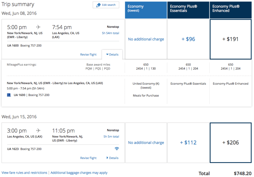 These new packages can add a LOT to the cost of your ticket.