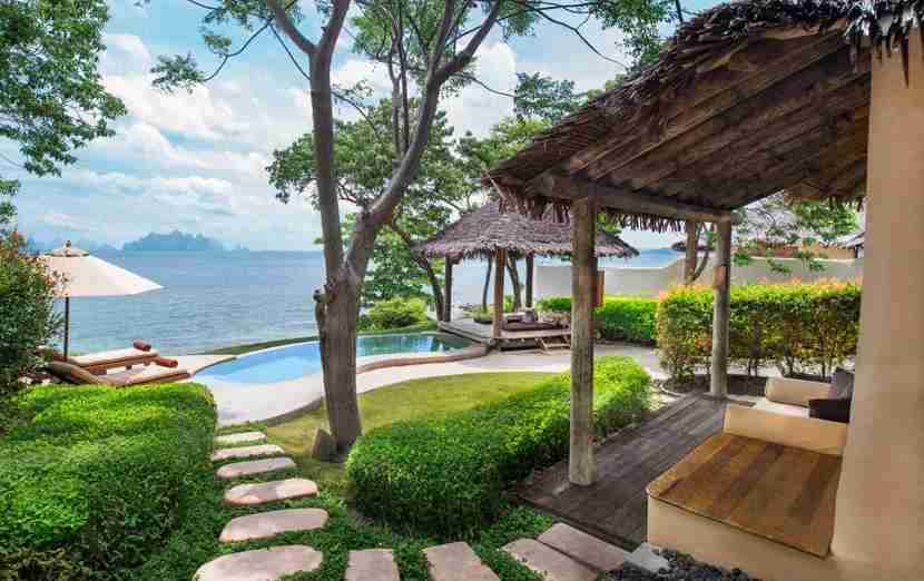Spread out in a Sea View Pool Villa at The Naka Island off Phuket.
