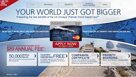 US Airways MasterCard 50,000 offer