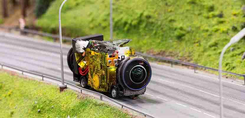 Special cameras were strapped to the Miniatur Wunderland vehicles. Image - Miniatur Wunderland (1).