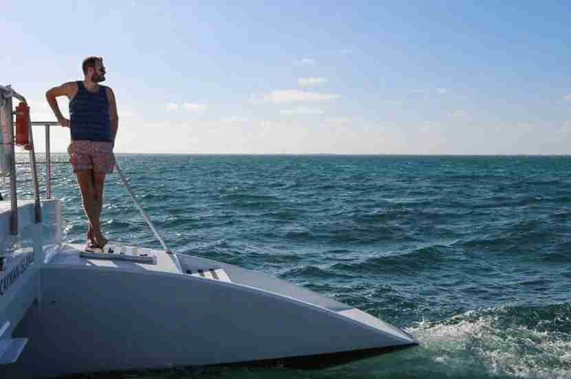 Catamaran-ing out to Stingray City!