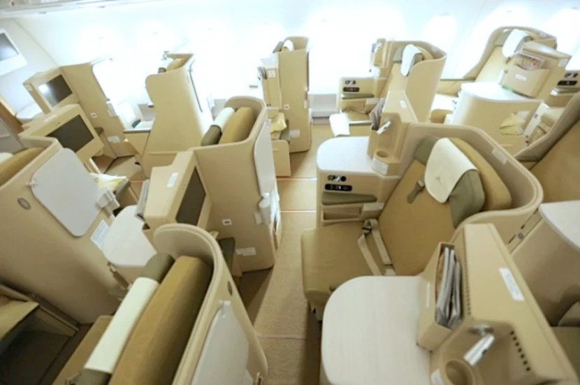 The business class cabin wasn't my favorite.