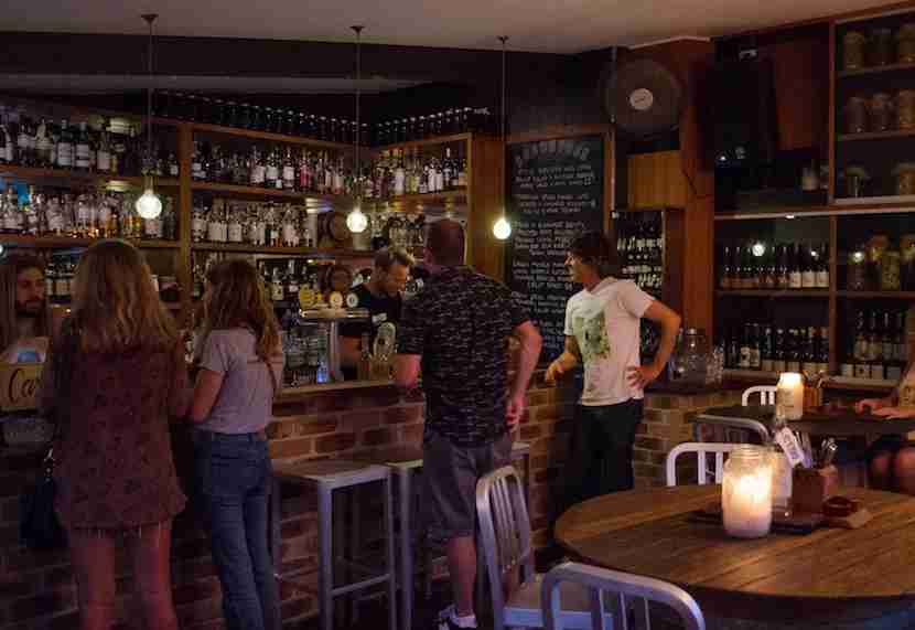 The rustic-chic interior of The Roadhouse Cafe Bar. Image courtesy of Kirra Pendergast.