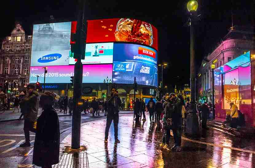 Piccadilly Circus. Image courtesy of Kofi Lee-Berman.