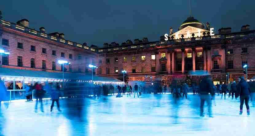 Ice skating at London