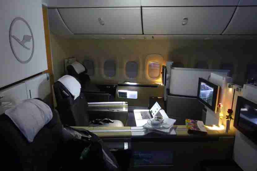There were four empty seats on the 747 leg.