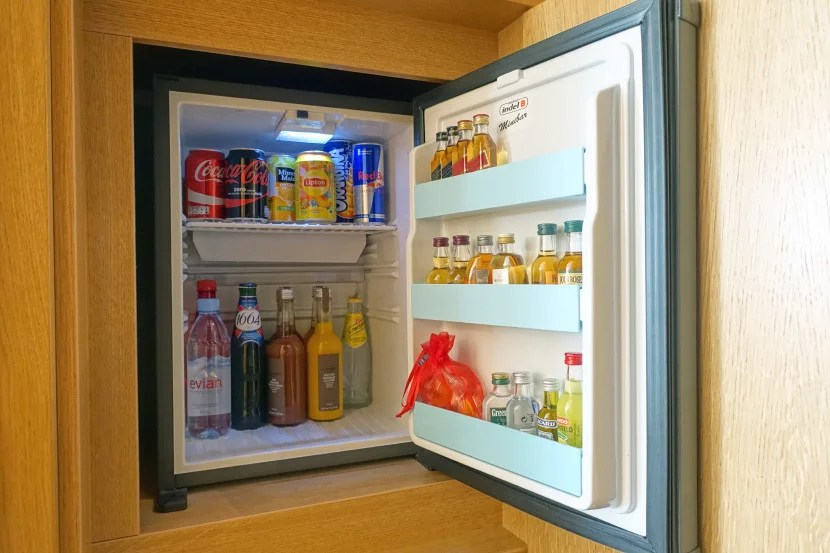 You'll have to pay 8 euros for a Coke if you go the mini-bar route.