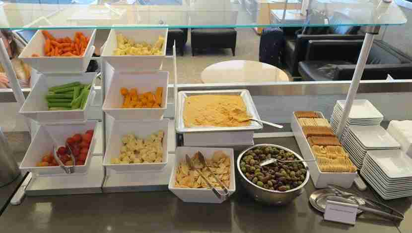 The snack spread at the DFW Terminal D Admiral