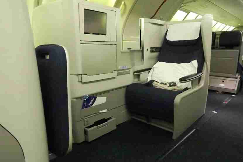The Club World aisle seats offer virtually no privacy.