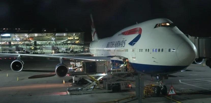 It was still dark when we arrived at London Heathrow's Terminal 5.