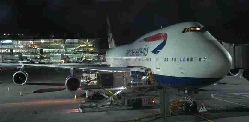 It was still dark when we arrived at London Heathrow