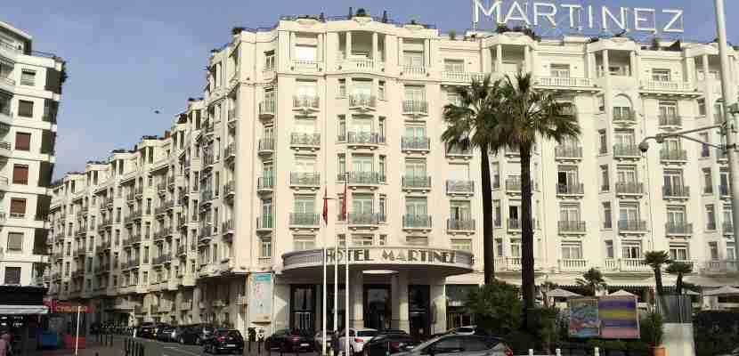 Redeem your free nights at a property like the Grand Hyatt Cannes Hôtel Martinez.