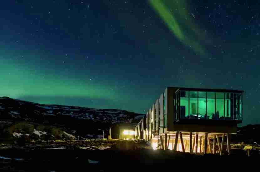 The ION Luxury Adventure Hotel in Nesjavellir, Iceland. Image courtesy of ION Iceland.