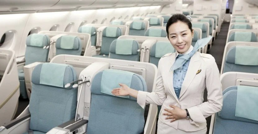 Korean Air has one of the best business class.