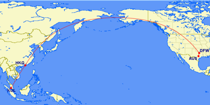Check flight options to SE Asia - especially Kuala Lumpur (KUL) - if you are looking for a mileage run.
