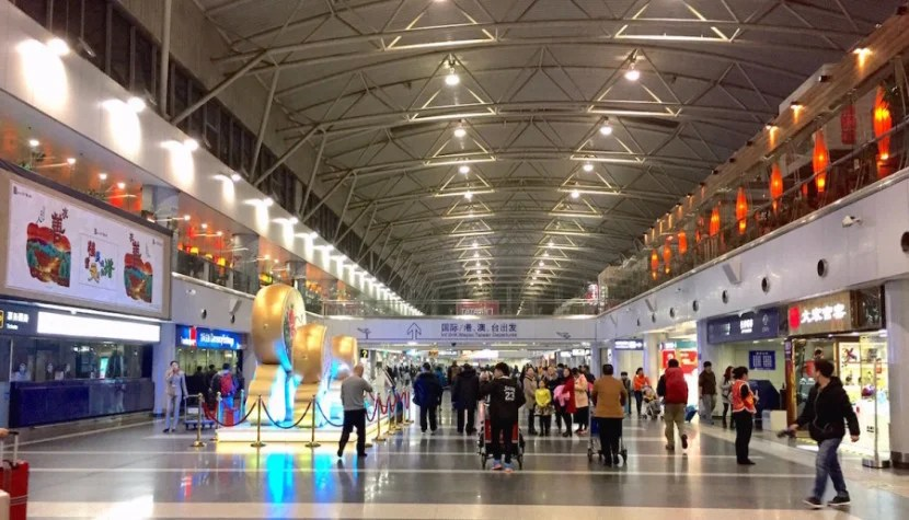 Beijing Capital Airport's Terminal 2 serves both domestic and international flights.