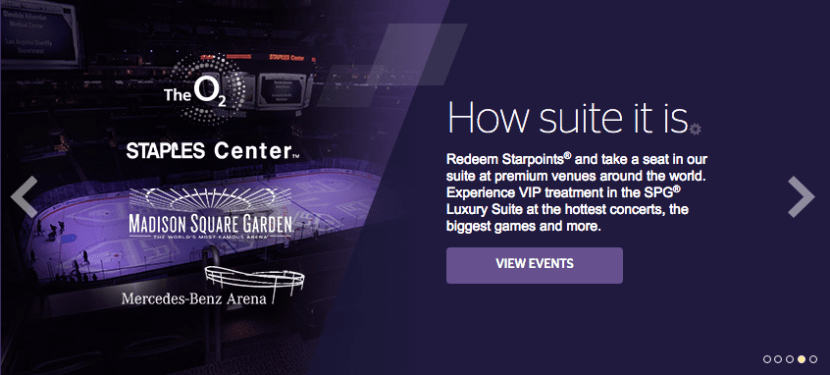 The SPG Moments program opens up luxurious experiences at sporting events, concerts and more.