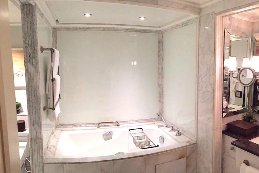 The marble tub.