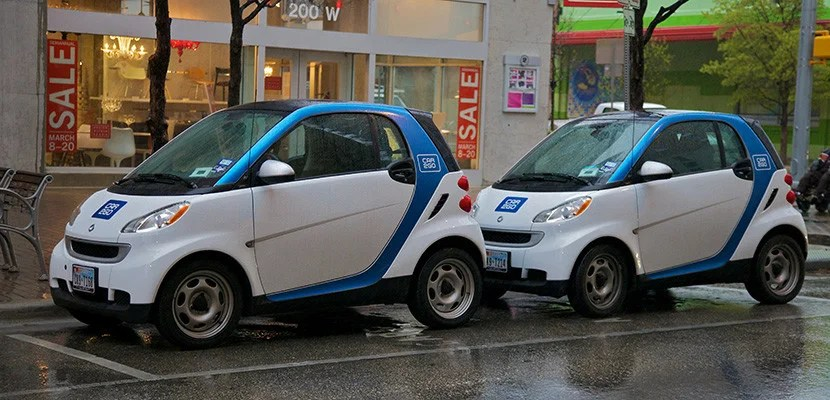 Two Car2Go vehicles in Austin.
