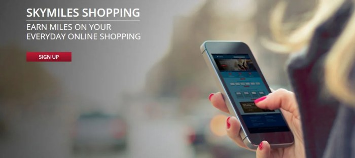 Keep a lookout for bonuses on shopping portals. Image courtesy of SkyMiles Shopping.
