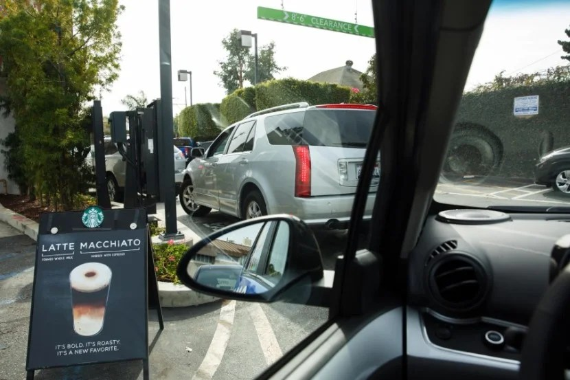 The WaiveCar Chevy Spark passed mydrive-thru Starbucks test for high clearance.