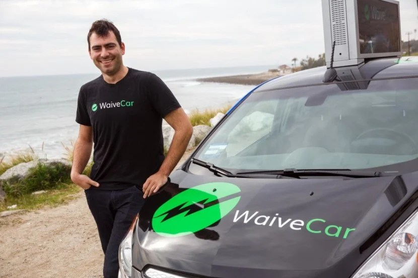 WaiveCar CEO Isaac Deutschposing for a portrait after we drove up to Malibu.