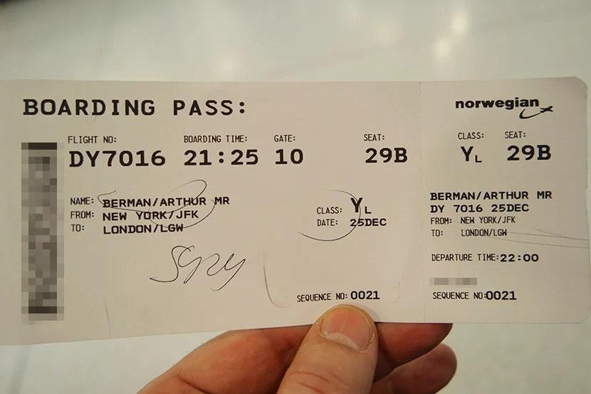 Review Norwegian Air 787 Economy Class New York To London