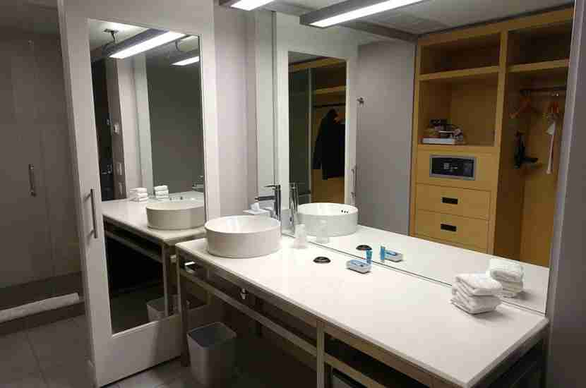 The vanity area was large.