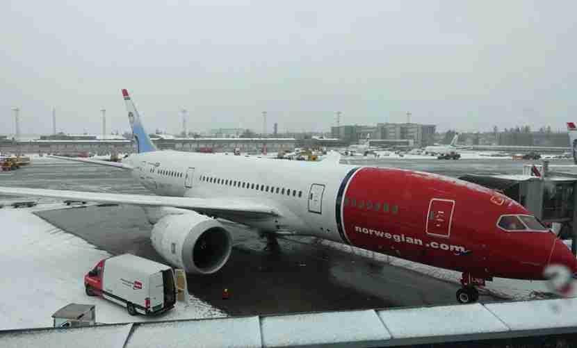 The Dreamliner after we landed in OSL.