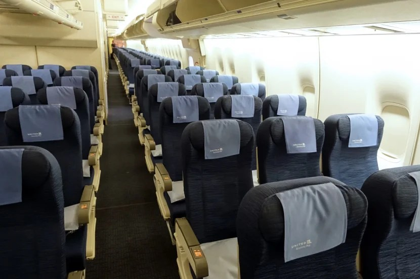Some of United's economy cabins are in bad need of a refresh.
