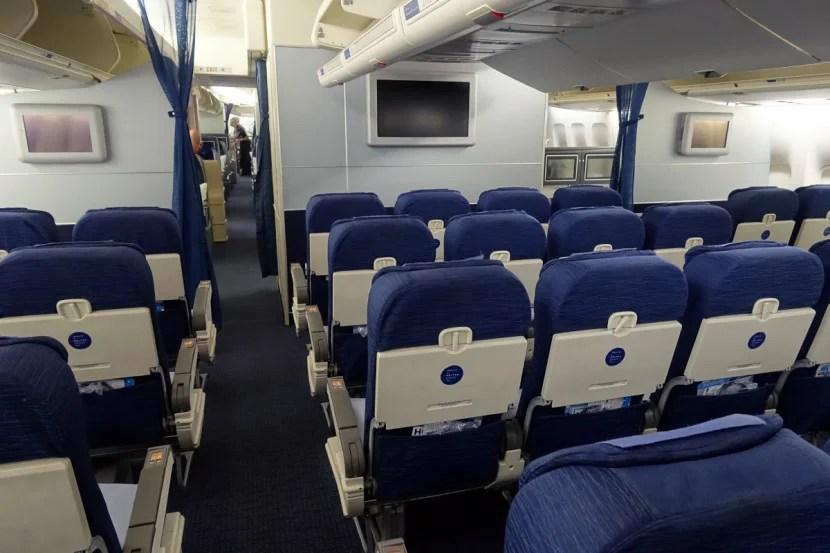 Economy Plus on United's 747.