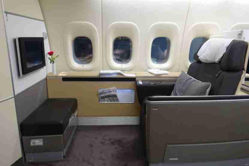 First class on the Lufthansa 747.