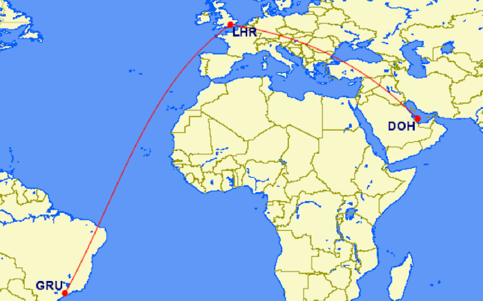 Take advantage of BA's flights to get from South America to Africa.