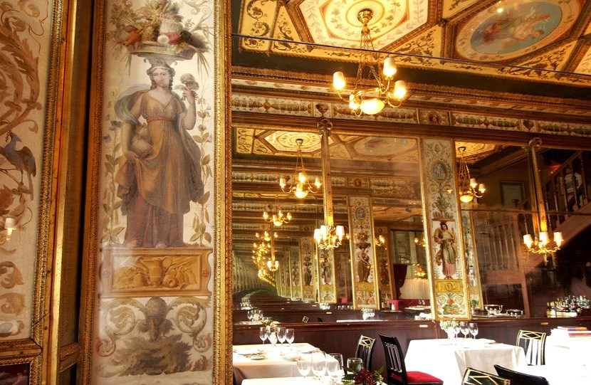 Le Grand Véfour is one of the oldest fine dining restaurants in Paris.