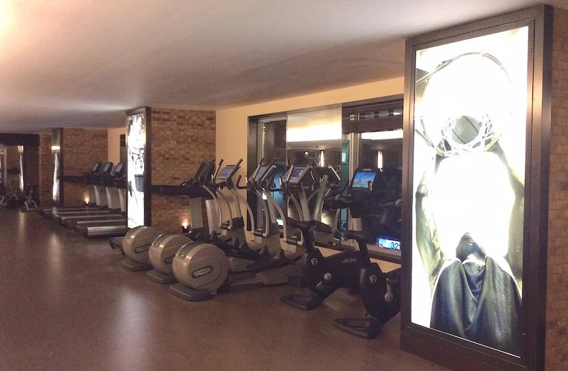 The gym at the Intercon.