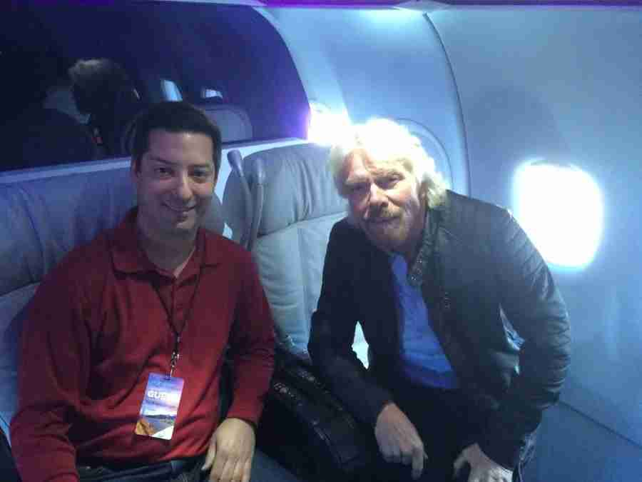I had a chance to spend a few minutes with Sir Richard Branson, shortly after he arrived on Virgin America