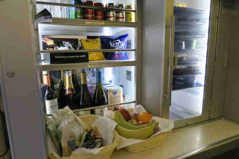 The Club Kitchen remained rather busy between meals this flight.