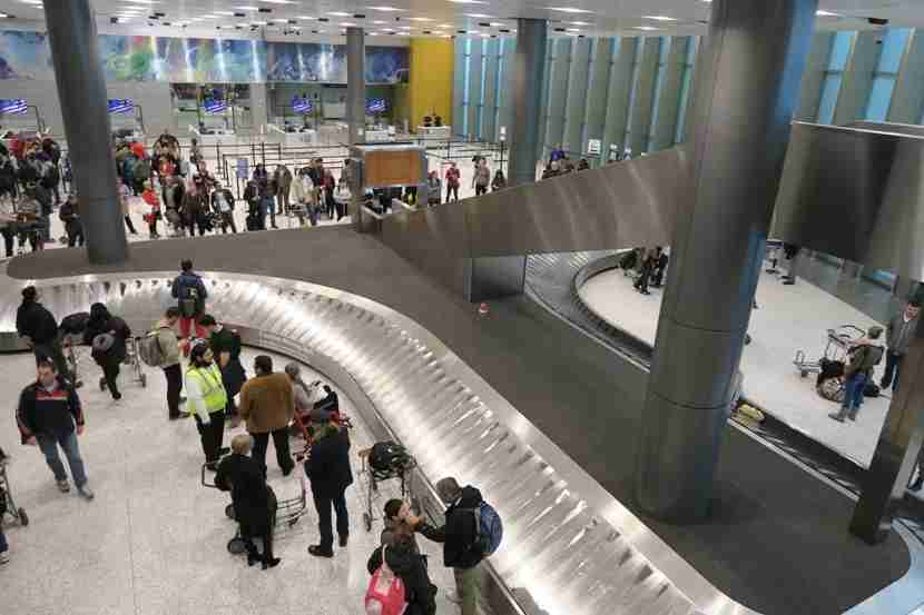 Due to delays with the baggage, we became very familiar with the international baggage carousel.