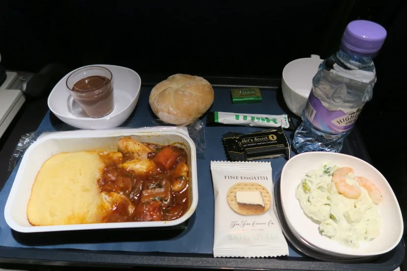 This World Traveller dinner didn't look too appetizing. Luckily, some of it surprised me.
