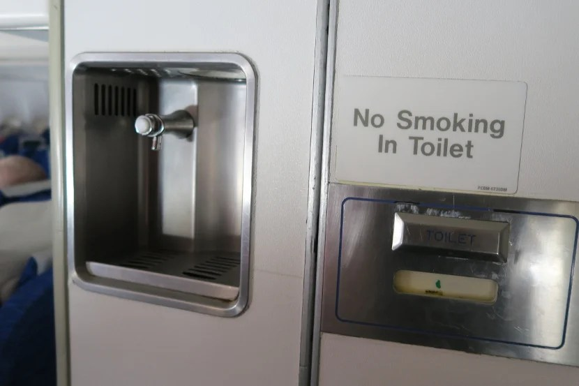 Potable water taps were available by the rear bathrooms. Would you trust the water?