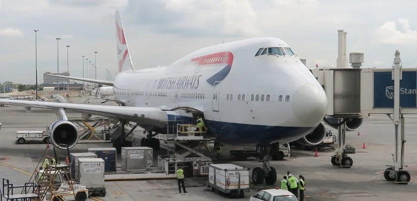 British Airways 747-400 in Johannesburg