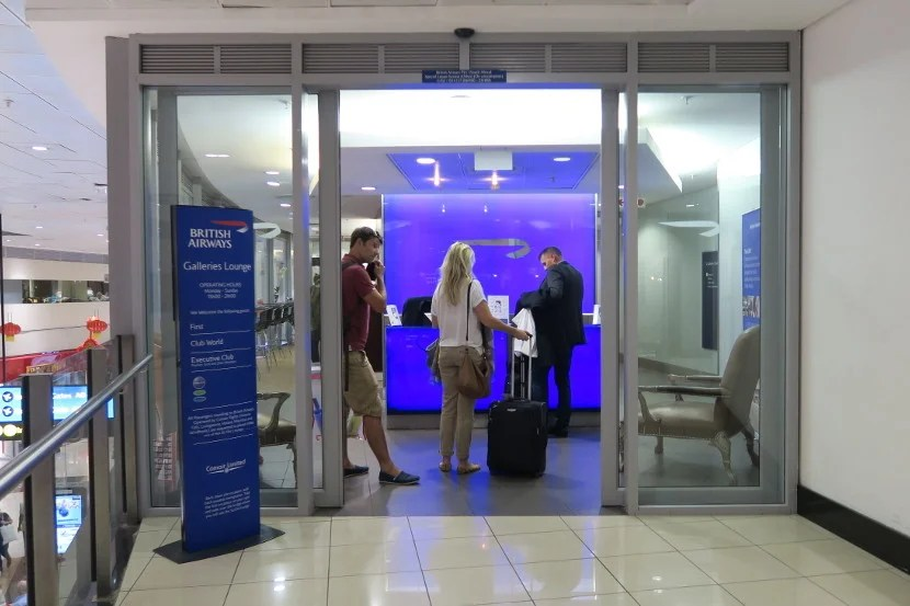 The British Airways Galleries Lounge is located upstairs shortly after immigration.