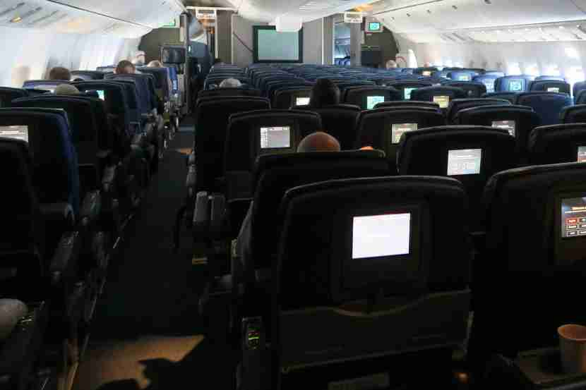 Despite a relatively empty economy cabin, I can