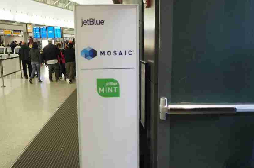 The entrance to the Mint/Mosaic check-in area.