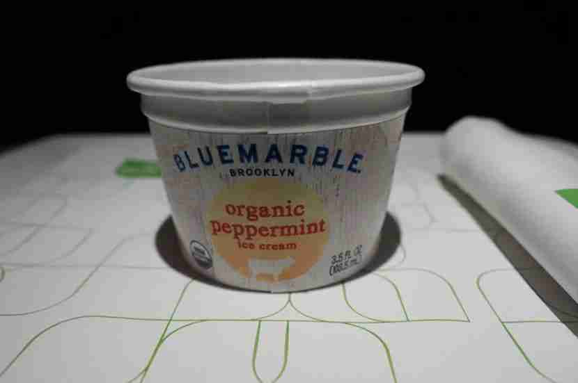 Great peppermint ice cream for dessert.