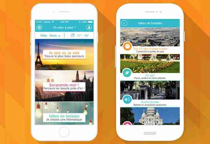 See all the beautiful spots in Paris with the Pretty Streets app.