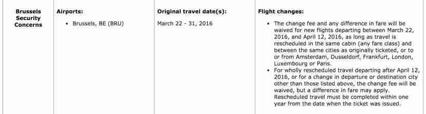 United is allowing customers to change their itineraries.