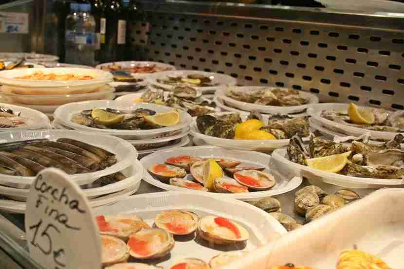 Spanish seafood delights.