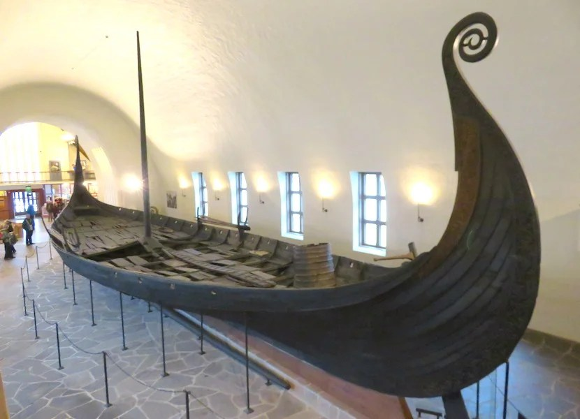 Original wooden vessels dating back about 1,000 years are preserved at Oslo's Viking Ship Museum.