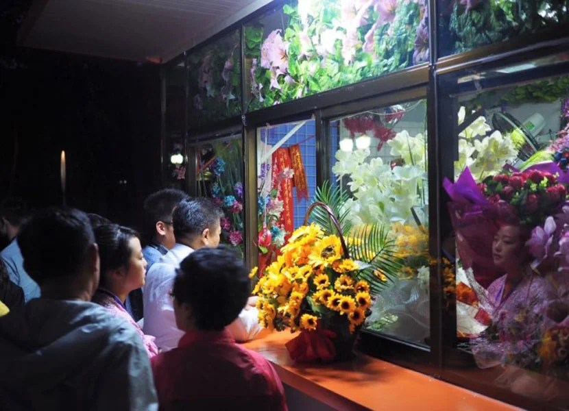 Flower shop in North Korea